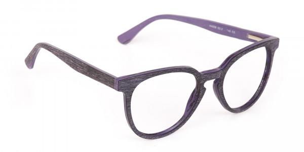 Purple Dark Violet Wood Glasses Frame Unisex-2