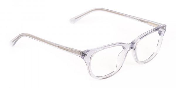 Grey Crystal Rectangular Glasses Unisex-2