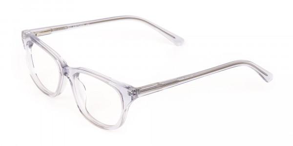Grey Crystal Rectangular Glasses Unisex-3