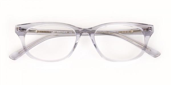 Grey Crystal Rectangular Glasses Unisex-6