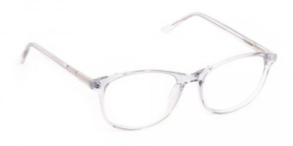 Crystal Clear Transparent Glasses Frame Unisex-2