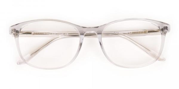 Crystal Clear Transparent Glasses Frame Unisex-6