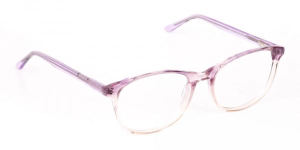 Crystal Purple & Apricot Rectangular Glasses-2