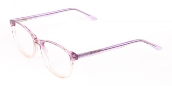 Crystal Purple & Apricot Rectangular Glasses-3