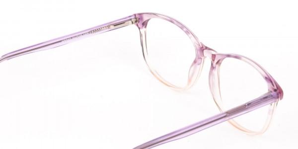 Crystal Purple & Apricot Rectangular Glasses-5