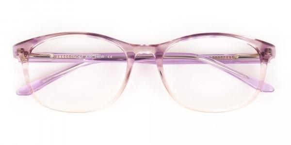 Crystal Purple & Apricot Rectangular Glasses-6