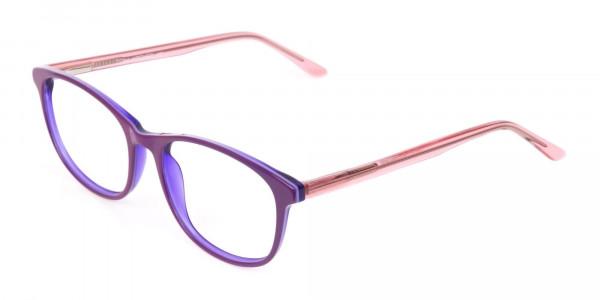 Women Raisin Purple Rectangle Glasses -3