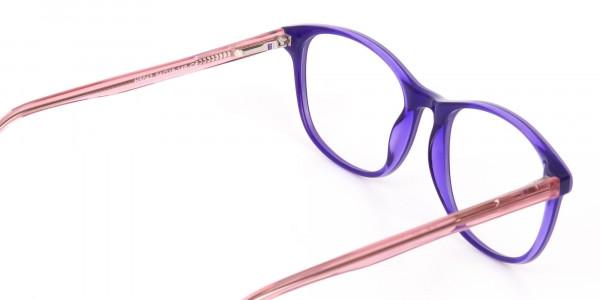 Women Raisin Purple Rectangle Glasses -5