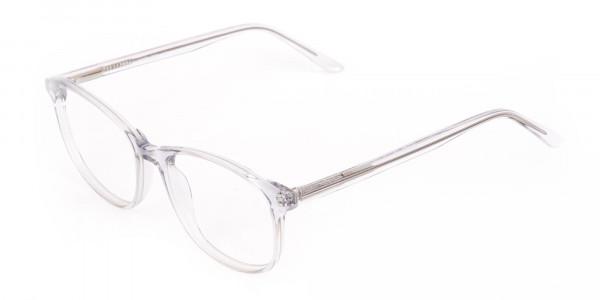Crystal Clear Transparent Glasses Frame Unisex-3