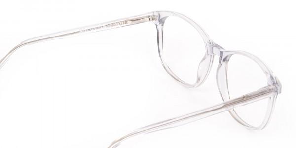 Crystal Clear Transparent Glasses Frame Unisex-5