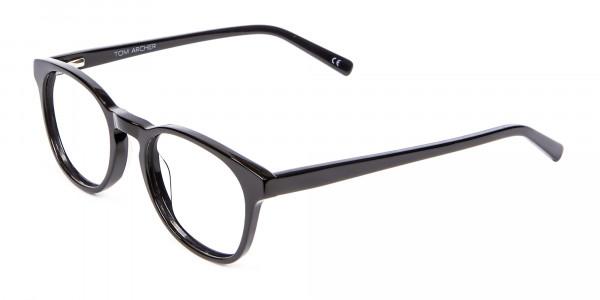 Round Shape Glasses in Black- 3