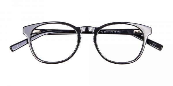 Round Shape Glasses in Black- 6