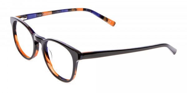 Purple and Orange Round Frame- 3
