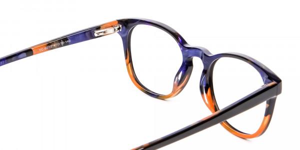 Purple and Orange Round Frame- 5
