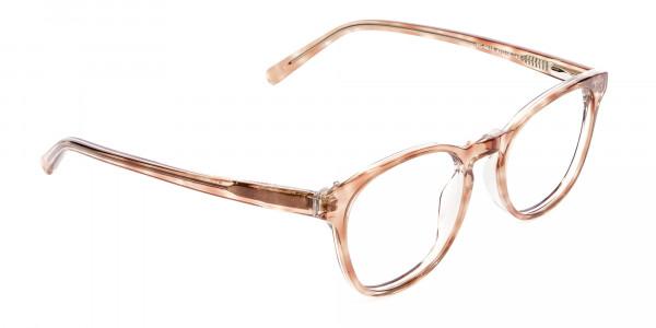 Havana Textured Designer Prescription Glasses - 2