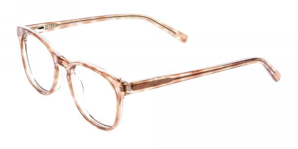 Havana Textured Designer Prescription Glasses - 3