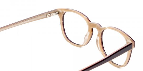 Black & Beige Reading Glasses -5