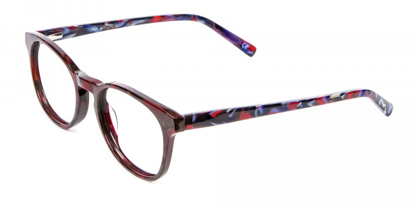 Risque Red & Blue Marbled Reading Glasses - 3