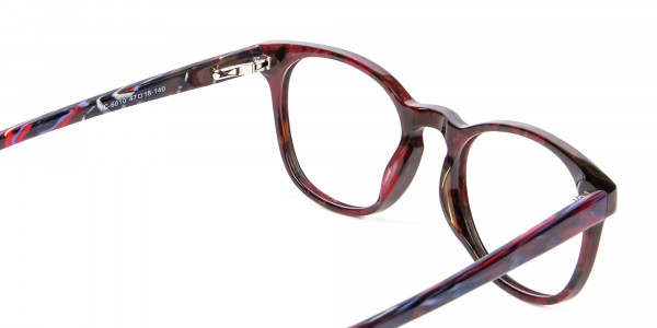 Risque Red & Blue Marbled Reading Glasses - 5
