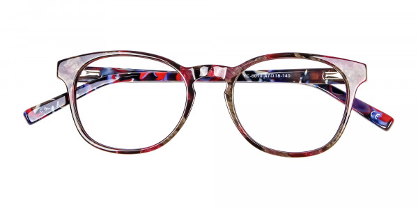 Risque Red & Blue Marbled Reading Glasses - 6