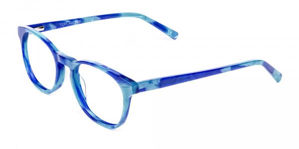 Marble Blue Reading Glasses -3