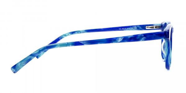 Marble Blue Reading Glasses -4