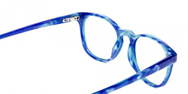 Marble Blue Reading Glasses -5