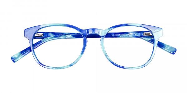 Marble Blue Reading Glasses -6