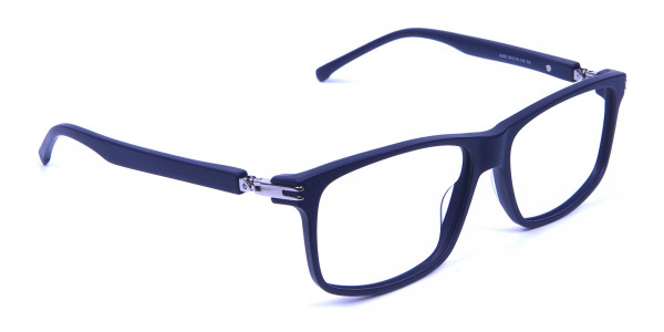 Light Weight Detail Crafted Glasses in Blue - 1