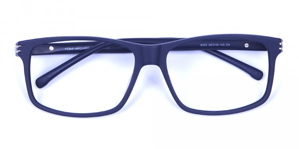 Light Weight Detail Crafted Glasses in Blue - 5