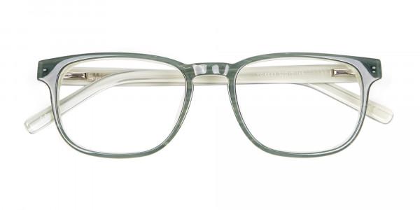 Smokey Grey Green & White - 5