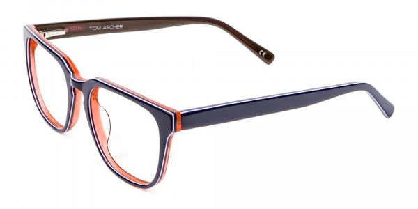 Twist of Orange & Navy Blue - 2