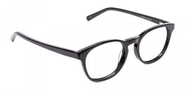 Round Shape Glasses in Black- 2