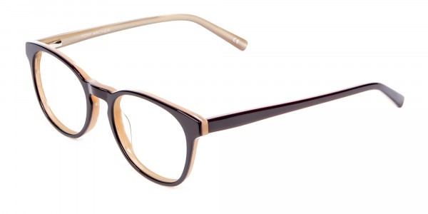 Black & Beige Reading Glasses -3