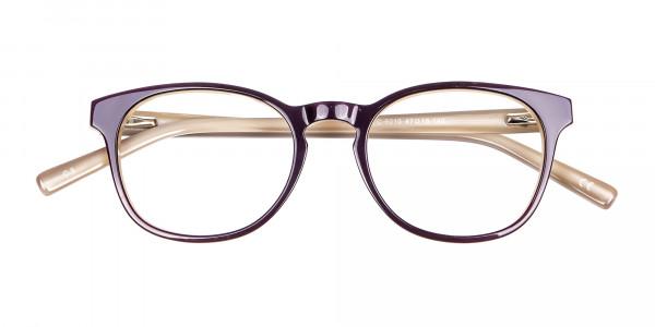 Black & Beige Reading Glasses -7