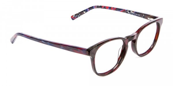 Risque Red & Blue Marbled Reading Glasses - 2