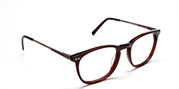 Mocha Brown  Round Glasses, Eyeglasses -2