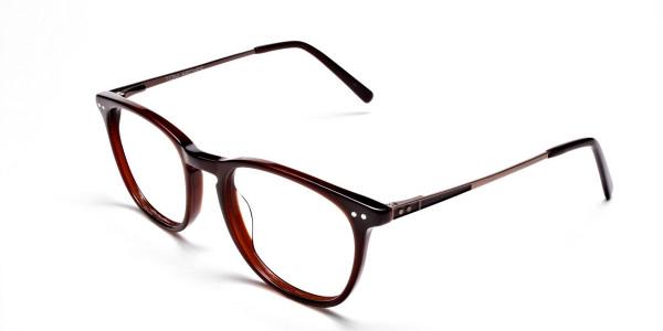 Mocha Brown  Round Glasses, Eyeglasses -3