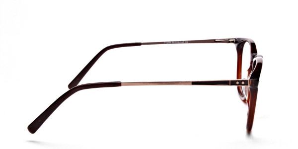 Mocha Brown  Round Glasses, Eyeglasses -4