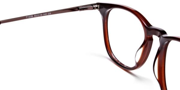 Mocha Brown  Round Glasses, Eyeglasses -5