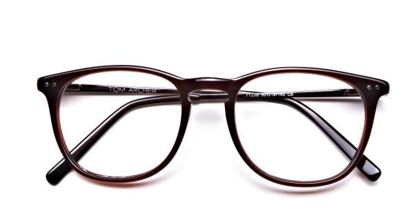 Mocha Brown  Round Glasses, Eyeglasses -6