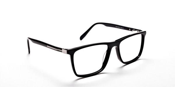 Subtle Black Wayfarer Eyeglasses -1
