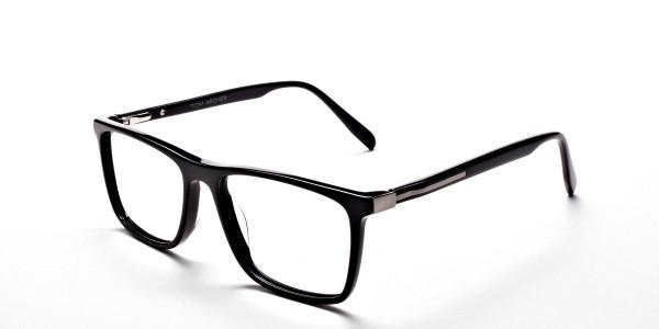 Subtle Black Wayfarer Eyeglasses -2