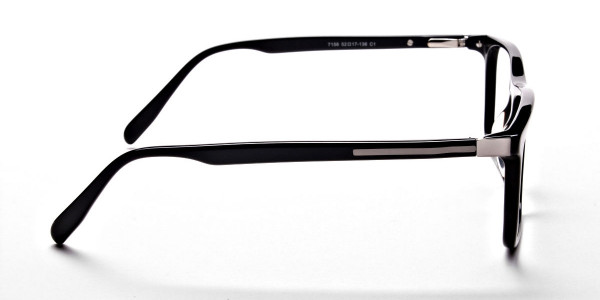 Subtle Black Wayfarer Eyeglasses -3
