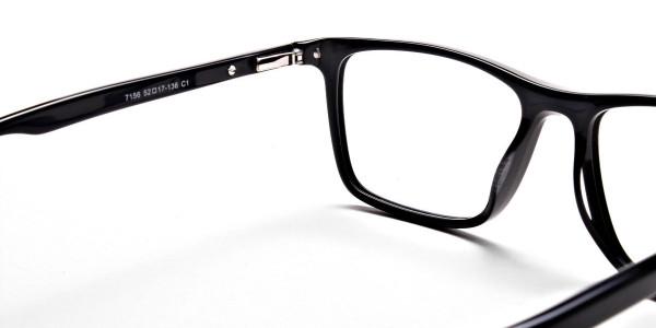 Subtle Black Wayfarer Eyeglassess -4