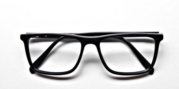 Subtle Black Wayfarer Eyeglasses -5