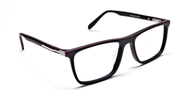 Back & Red Wayfarer Eyeglasses -1