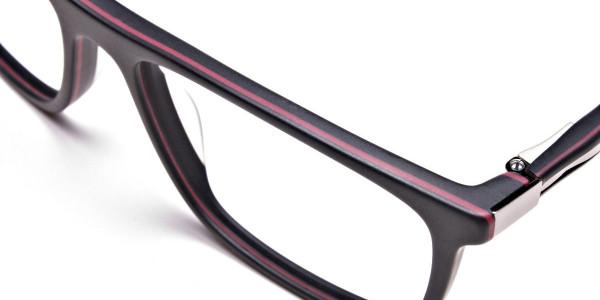 Back & Red Wayfarer Eyeglasses -6