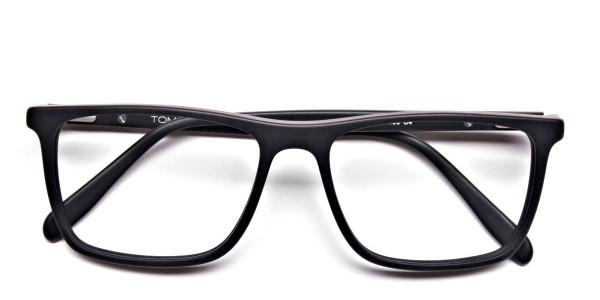 Back & Red Wayfarer Eyeglasses -5