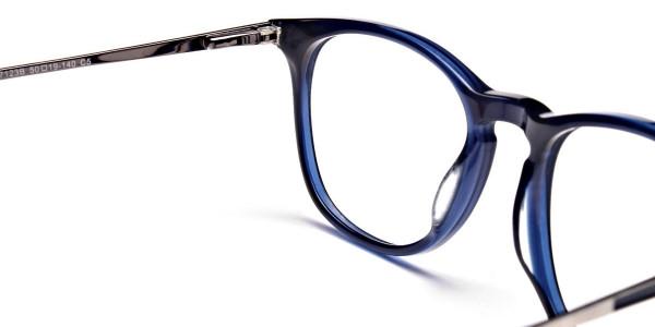 Dark Blue Round Glasses, Eyeglasses -5